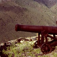 photo of canon from colonial st. helena