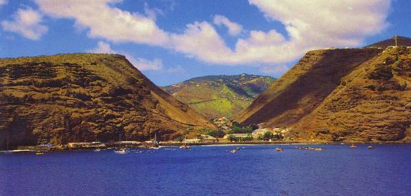 a view into jamestown on st.helena